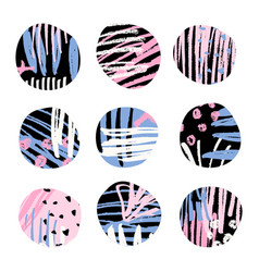 Textured abstract shapes vector