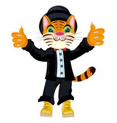 Tiger in suit vector