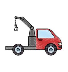 truck crane isolated icon vector image