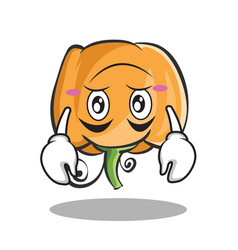 Upside down pumpkin character cartoon style vector