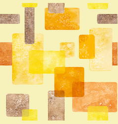 Warm colors watercolor geometric abstract vector