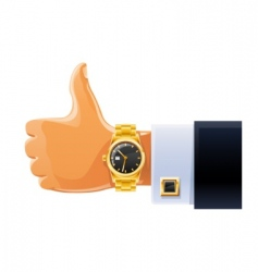 Watch on hand vector