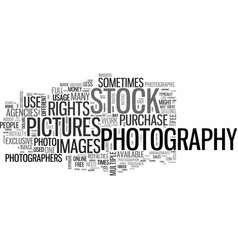 whatdoyouknowaboutstockphotography text word vector image