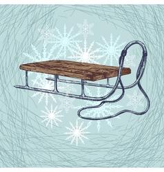 Winter sleigh vector image