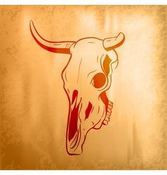 bull skull on the background vector image