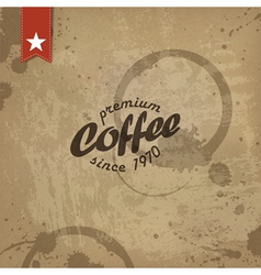 coffee abstract grungy poster vector image
