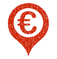 euro geotargeting icon grunge watermark vector image vector image