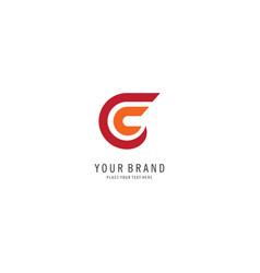 letter c finance logo vector image