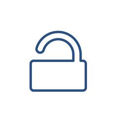lock padlock password private secure unlock icon vector image
