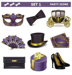 Party Icons Set 1 vector image