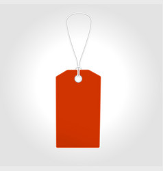 red tag label with sale design vector image vector image
