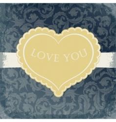 vintage gift card vector image