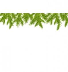 Christmas tree border vector image vector image