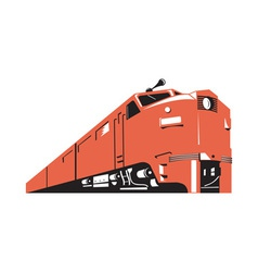 Diesel Train Retro vector image