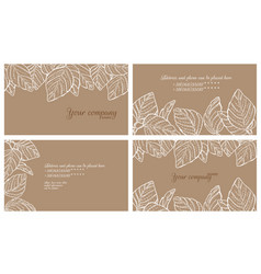 eco style business cards set vector image