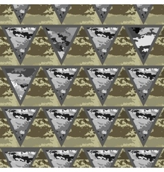 Geometric abstract seamless camo vector