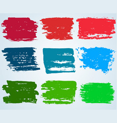 paint brush banner colorful background vector image