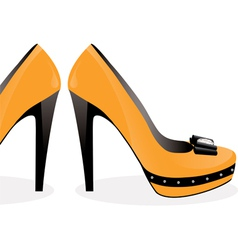 pair of yellow shoes vector image