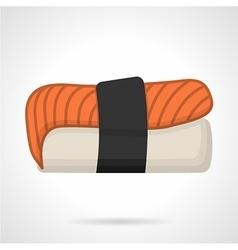 Salmon nigiri sushi flat icon vector image vector image
