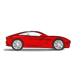 Sports car with a sleek vector image vector image
