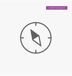 compass icon simple vector image