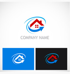 home roof arrow realty business logo vector image