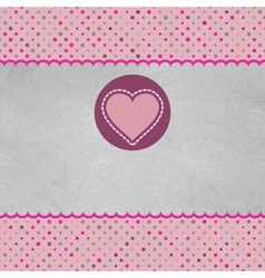 Valentine card with heart And also includes EPS 8 vector image