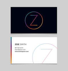 Business-card-letter-z vector