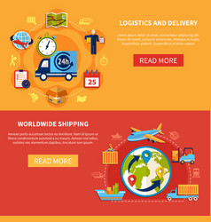 logistic banner composition vector image
