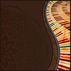 Musical background3 vector image