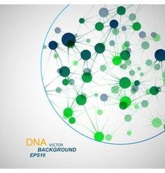 network connection and DNA eps10 vector image