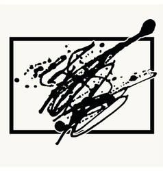 Splatter Black Ink Background in frame vector image vector image