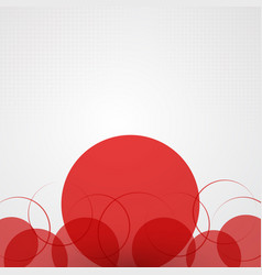 Abstract background with red circles and halftone vector