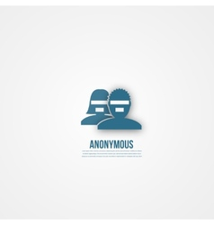 Abstract people template anonymous icon vector