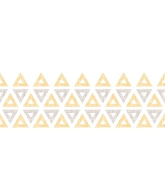 Abstract textile ikat yellow brown triangles vector