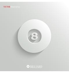 Billiard icon - white app button vector image