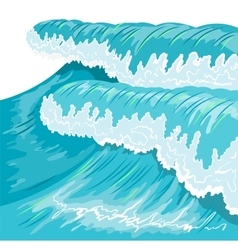 Blue high ocean wave surge wave vector