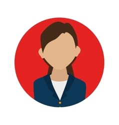 Businesswoman character avatar icon vector