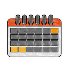 calendar with blank dates icon image vector image