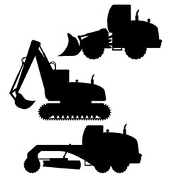 car equipment for road works 02 vector image
