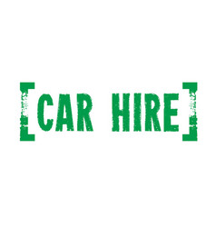 Car hire sticker vector