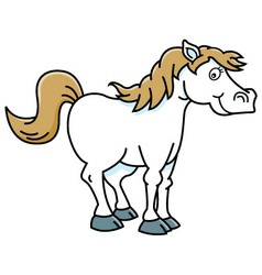 Cartoon happy horse vector