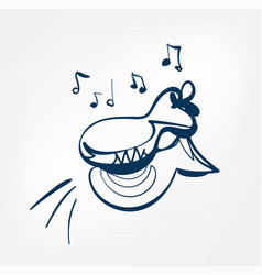 castanets sketch line design music instrument vector image