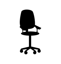 Chair office furniture front icon graphic vector
