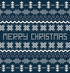 Christmas background with Scandinavian seamless vector