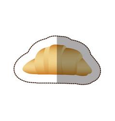 colorful croissant bread icon vector image