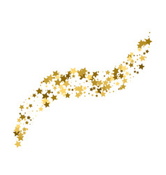 confetti cover from gold stars wave path like vector image