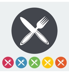 Cutlery single flat icon vector image