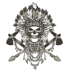 dead chief badge vector image
