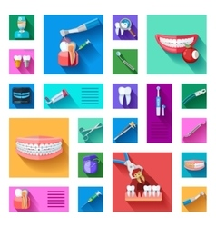 Dentist Icons Set vector